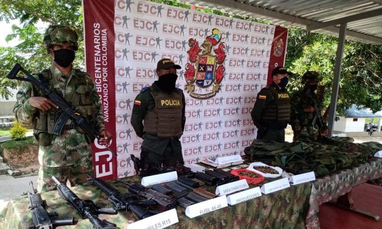 Tropas del Ejército Nacional, en desarrollo de operaciones militares de acción ofensiva en el departamento de Bolívar, atendiendo las recomendaciones de la alerta temprana n.° 052 del 2018